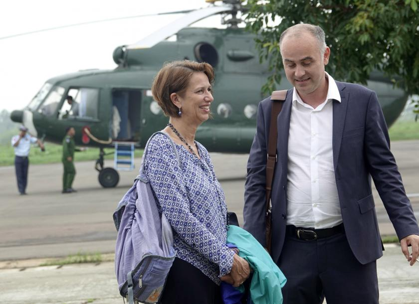Christine Schraner Burgener is UN's special envoy for Myanmar. Photo: EPA