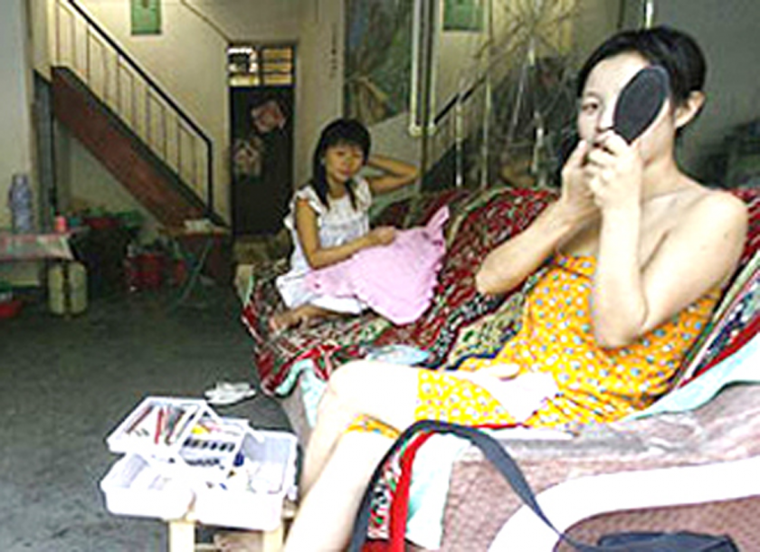 Sex parlour in china