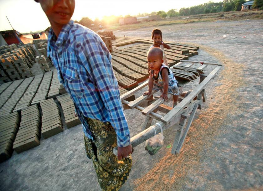 A small brick manufacturing operation near Yangon. Photo - EPA