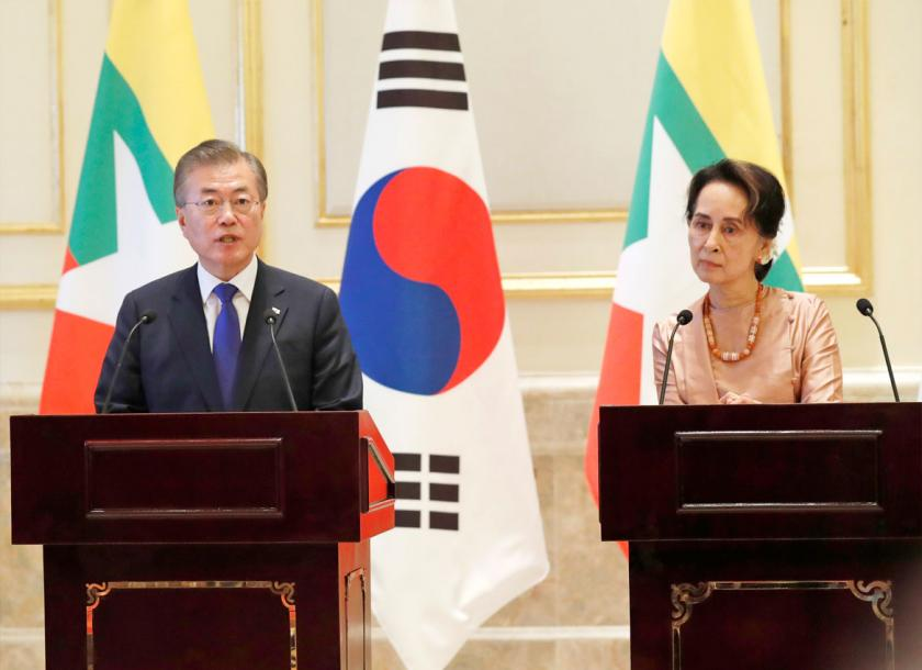 Myanmar South Korea Ink Agreements On Infrastructure Investments