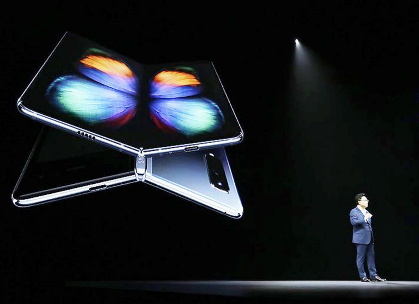 DJ Koh, who oversees Samsung's smartphone division, talks about the new Samsung Galaxy Fold. Photo - AP