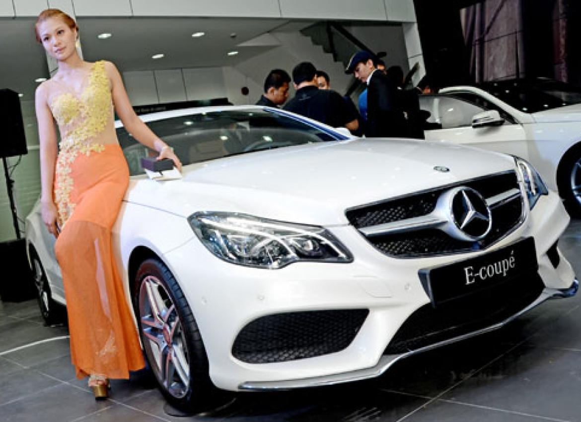 Luxury Cars At The Starting Line The Myanmar Times