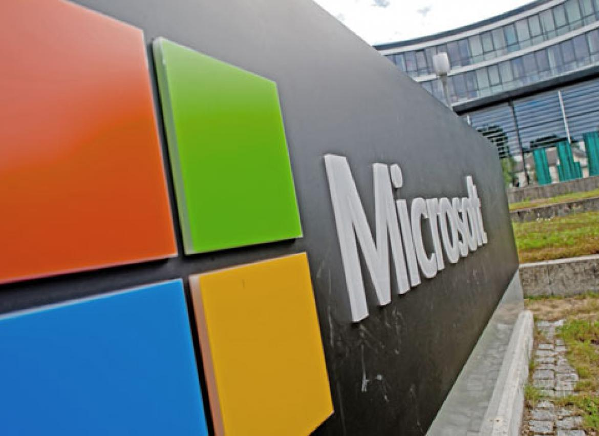 Microsoft certification a plus for job application the myanmar the microsoft logo outside the software companys german headquarters in unterschleissheim germany photo 1betcityfo Images